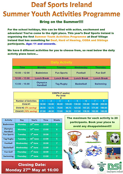 Summer Youth Activities Programme