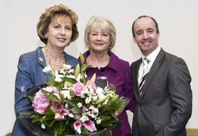 President Mc Aleese, Anne Coogan & Willie White